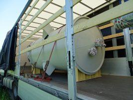 Mieszadło naporowe krystalizatu załadowane na transport